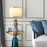 Table Lamps Postmodern Luxury Ceramic Living Room Study Bedroom Bedside Home Decoration Lighting Model Dining Desk Lamp E27