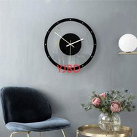 Nordic Style Wall Clock Silent Transparent Acrylic Home Livi...