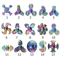 2017Fidget Spinner Metal Rainbow Spinners EDC Tri-Spinner New Hand Spinner BDSM Toys Wholesale Lots Bulk Alloy Hand Spinners with Retail Box