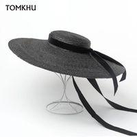 Sombreros de ala ancha Color Pure Classic Pura Hecho A Mano Hecho A Mano Holiday Fedoras Cap Men Mujeres Al Aire Libre Panamá Jazz Hat 18cm Extrementado