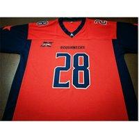 Benutzerdefinierte 009 Jugendfrauen XFL Houstons Rauhnecks 11 Phillip Walker 28 Harris Football Jersey Größe S-5XL oder benutzerdefinierte Neiner Name oder Nummer Jersey