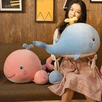 1 pc pluszowy wieloryb zabawki miękkie nadziewane pluszowe zwierzęta morskie wieloryba lalka z wodą przytulne dzieciaki ocean pluszowe zabawki dla dzieci zabawki 30/45 / 65 cm