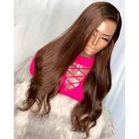Synthetic Wigs 26 Inches Preplucked Dark Brown Long Loose Wave Side Part Lace Front Wig With Baby Hair Daily Heat Temperature
