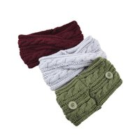 Hair Accessories Twist Cross Hairband For Women Girls Woolen Knitted Headband Solid Color Ear Warmer Button Elastic Bands