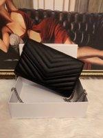 디자이너 가죽 여성 어깨 가방 크로스 바디 럭셔리 핸드백 지갑 디자이너 토트 골드 체인 가방