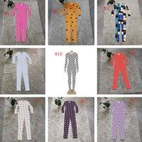12 Arten Womens Strampler Onesies Nachtwäsche Langarm Damen Nachtwäsche Mode Brief Drucken Frauen Pyjamas Overallsuits