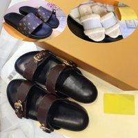 2021 إمرأة النعال النساء الشرائح شبشب الصيف مثير الصنادل رجل فمر مصممون جلد حقيقي منصة صندل الشقق الأزياء القديمة زهرة الأحذية السيدات شاطئ pl01