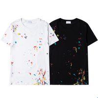 Hommes Designers T Shirts Mens Pure Coton Top Marques Broderie à manches courtes Tendance du T-shirt de luxe de luxe de luxe à manches courtes classique SS