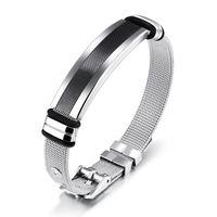 Tennis JHSL Male Men Statement Warp Bracelets & Bangles Size Adjustable Stainless Steel Great Boyfriend Father Gift