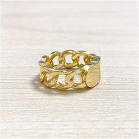 Ретро латунные буквы мода диких мужчин женщин темпераментное кольцо простой европейский американский стиль ювелирных изделий подарки годовщины аксессуары