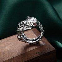 Кольцо на панком стиль персонализированные хип-хоп крокодиловые кольца мужская мода трехмерная форма отверстие регулируемая