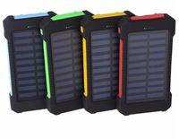 Teléfono celular Power Banks Factory Wholelsae Cargador solar impermeable 20000mAh con 2 luces LED, puerto USB de Super Bank Dual para tabletas móviles