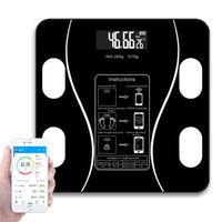 Smart Scales Ванная комната Вес пола Bluetooth Electronic Соединение со смартфоном приложение белый черный розовый