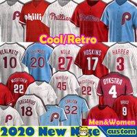 Filadélfia J.T. RealMuto Mike Schmidt Jerseys Bryce Aaron Nola Harper Didi Gregorius Mike Schmidt Rhys Hoskins McCutchen Beisebol personalizado