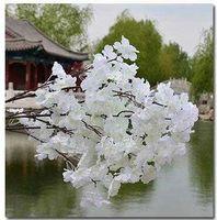 Un metro lungo un bouquet a tre rami Sigle-layer petali più basso Prezzo più basso Artificiale Cherry Blossom Decorazioni di nozze Silk Sakura