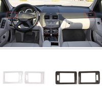 ABS Plastic Car Interior AC Front Air Outlet Trim Frame Sticker Cover Accessories Fit For Mercedes Benz C Class W204