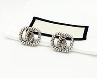 Mode Buchstaben Ohrringe Aretes für Frauen Party Hochzeit Liebhaber Geschenk Schmuck Engagement mit Box