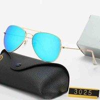 Nueva marca de lujo 3025 Diseño polarizado Gafas de sol Pilotos masculinas y femeninas Gafas de sol UV400 Metal Marco Metal Marco con caja