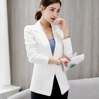 Women's Suits & Blazers white office blazer spring and summer fashion big yards Ms. long-sleeved jacket Temperament feminine suit