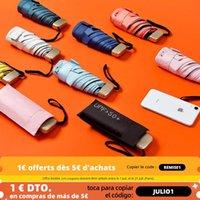 Umbrellas Phone Size Mini Pocket Women's Umbrella Male Man Ultralight Rain Sun Girls Anti UV Portable Folding Parasol