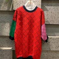 Женщины вязаные тройники свитер с коротким рукавом шеи пуловер красный розовый зеленый дизайнер женская одежда o-шеи вязать мода ins ins