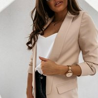 2021 Moda Yaka Ince Hırka Zarif Suit kadın Ceket Bahar ve Sonbahar Kadınlar için Yeni Ince Ceket Güz Ceket11