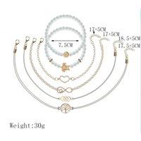 المجوهرات اليدوية بالجملة مجوهرات مجوهرات خارج الحب 8 أحرف سوار المنسوجة مطرز السلحفاة شجرة الحياة 6 قطعة مجموعة سوار