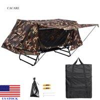 싱글 텐트 침대 기본 침대 야외 캠핑 세트 위장 군대 세트 휴대용 쉬운 설정 H0030 미국 주식