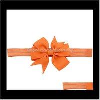 Banda elástica de color sólido de 3 pulgadas de moda para niños para niños Bowknot DIEADA Accesorios para el cabello 567 Q SQCHUV 1GHDT 1FDRT