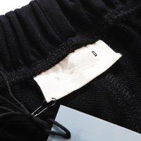 패션 망 캐주얼 디자이너 바지 단단한 색상의 탄성 바지 트렌드 배열 간단한 느슨한 조깅 스웨트 팬츠