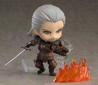 10 см Witcher-ED 3 Wild Hunt 907 Geralt White Wolf Geralt PVC Действие фигурки Модель Игрушки Подарочная кукла для Fhildrand Y0726