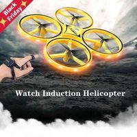 مصغرة rc ووتش بدون طيار ufo infrared التعريفي لفتة الاستشعار هليكوبتر الإلكترونية التحكم عن طائرة quadcopter أطفال اللعب الطائرات بدون طيار