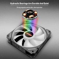 Computer Water Cooling Accessories 12cm Fan Temperature Control ARGB PC Cooler Case Fans & Coolings