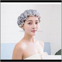 Caps Водонепроницаемый душевой шапку PEVA Утолщенные женские шампунь Ванна бытовой двойной слой по низким ценам F SQCZUU HYR8Y 3ADFZ