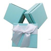 Caja de joyería de regalo 7.5 * 7.5 * 3.5 cm Anillo de San Valentín Caja de embalaje Caja de joyería Caja de joyería Packaging HWD6240