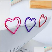 Filing Products Supplies Business & Industrialbk 300Pcs Love Heart Shaped Small Paper Bookmark Clips For Office School Home 6 Colors Drop De