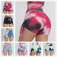 Pantalones cortos para mujer Leggings Pantalones de verano Cintura alta Hip elevador Gimnasio Jogging Yoga transpirable deportivo deportivo fitness delgado delgado contraste LU2021 TIK TOK Legging S / M / L / XL / 2XL