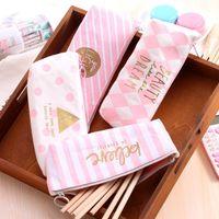 Pencil Bags 16pcs Large Capacity Kawaii Bag Pink Cotton Pouch School Purse For Students Stationary Organizer Korean Pen Case