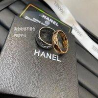 نفس الأزياء الدائري الفاخرة وانغ Yibo's Jewelry غير الخبو مصمم صغير العطر كوكو الماس تحقق مطلي 18 كيلو روز الذهب زوجين