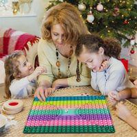 Parti Favor Büyük Boy Push Fidget Oyuncak Dev Büyük Gökkuşağı Satranç Kurulu Oyunu Stres Rahatlatıcı Duyusal Oyuncak Hediyeler Çocuklar için Parti Noel Doğum Günü