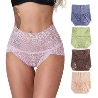 Culotte Femme 3 PCS / BLIFICS SHIFICS Sous-vêtements Plus Taille Rose Intimates Accessoires Femmes Coton Sans couture Taille haute Dentelle de dentelle BREF SETSANTS