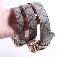 Collares de perro clásico presbicia de la presbicia de diseño patrón de impresión correas de cuero de la PU moda casual ajustable perros gatos correa cuello lindo pet collar