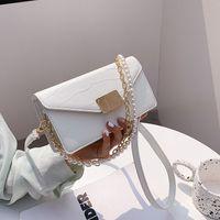 Chain Summer New Bag Korean Underarm Embossed Shoulder Pearl Fashion Female Messenger Stone Grain 2021 Style Dcgfd
