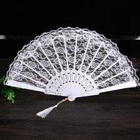 Kvinnor Ladies Folding Lace Hand Fan For Party Favor Wedding Home Decoration Ornament Dance Tillbehör