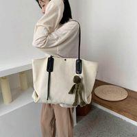 Handbag Crossbody Bag Autumn and winter canvas bag women's 2020 new fashion Korean fashion one shoulder handbag large capacity Tote Bag