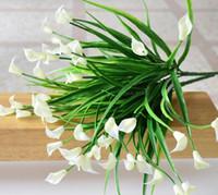 Mini artificial calla with leaf plastic fake lily Aquatic plants home room decoration flower GC676