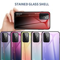 Cellphone Bag tempered glass Cases Mobile phone Cover For Samsung Galaxy A72 A52 A32 S21 Ultra