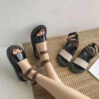 Sandals Sports Women's Muffins Shoes Fashion Womens 2021 Clear Heels Suit Female Beige Flat Comfort Block Luxury Low Sale