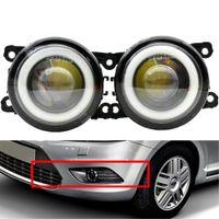 2x lumière de brouillard menée avec des lampes à phare de lentille Kit de fils pour Ford Focus Sedan 2009 -2011