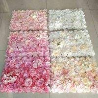 40x60 cm floreale artificiale decorazione di nozze decorazione di fiori di fiori rosa fiorisce fiori ortensia pannelli di fiori da sposa T200716